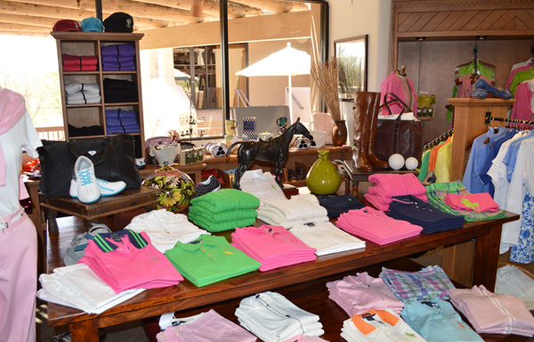 Clothing on display at The Golf Shop